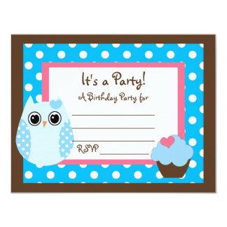 Los KRW Brown y fiesta azul del espacio en blanco Invitación