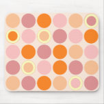 Los KRW refrescan puntos rosados y anaranjados Alfombrillas De Raton