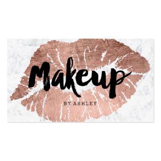 Los labios del artista de maquillaje subió el tarjetas de visita