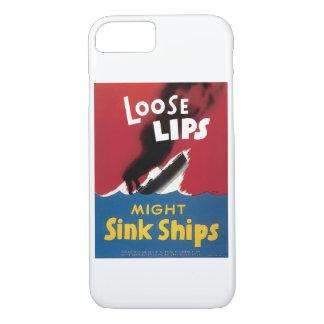 Los labios flojos pudieron hundir las naves funda iPhone 7