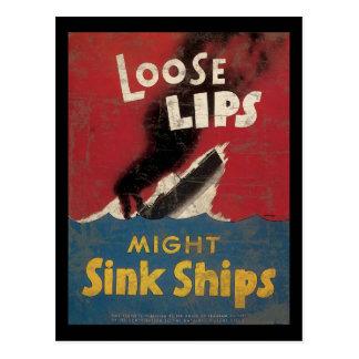 Los labios flojos pudieron hundir las naves tarjeta postal