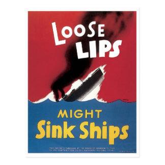 Los labios flojos pudieron hundir las naves tarjetas postales