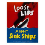 Los labios flojos pudieron hundir las naves - vint poster