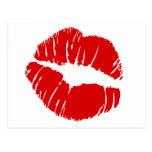 Los labios grandes grandes besan la boca que se be tarjeta postal
