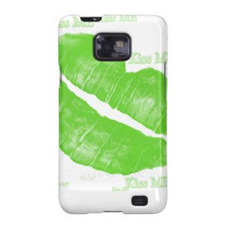 Los labios irlandeses verdes - béseme texto galaxy s2 funda