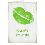 Los labios verdes - béseme que soy irlandés tarjeta
