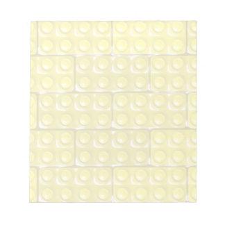 Los ladrillos del constructor - amarillo bloc de notas