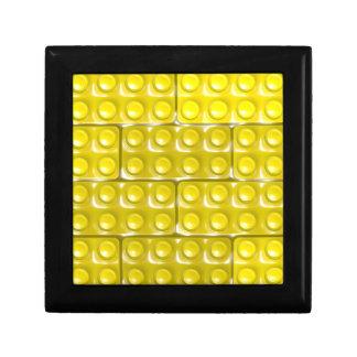 Los ladrillos del constructor - amarillo cajas de joyas