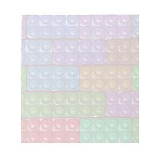 Los ladrillos del constructor - arco iris blocs de papel