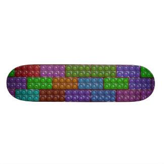 Los ladrillos del constructor - arco iris monopatin personalizado