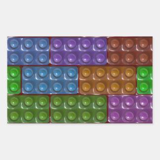 Los ladrillos del constructor - arco iris pegatinas