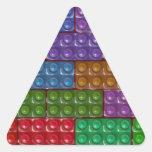 Los ladrillos del constructor - arco iris colcomanias de triangulo