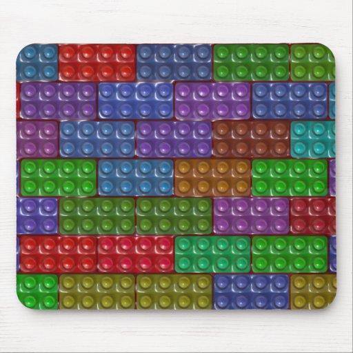 Los ladrillos del constructor - arco iris tapetes de ratón