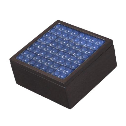 Los ladrillos del constructor - azul cajas de recuerdo de calidad