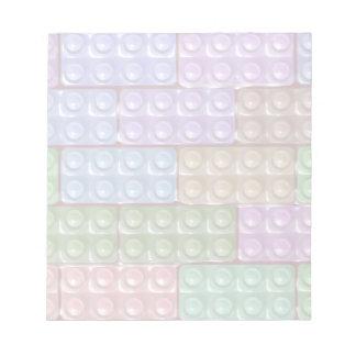 Los ladrillos del constructor - pastel blocs de papel