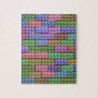 Los ladrillos del constructor - pastel puzzle con fotos
