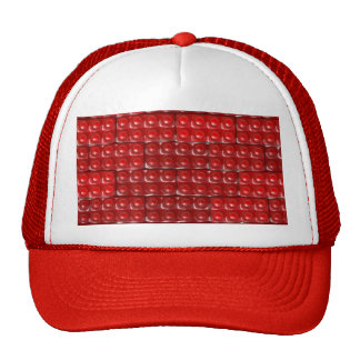 Los ladrillos del constructor - rojo gorros bordados