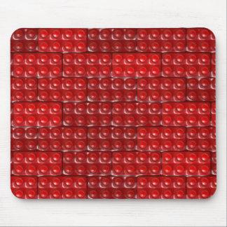 Los ladrillos del constructor - rojo mouse pad