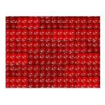 Los ladrillos del constructor - rojo tarjeta postal