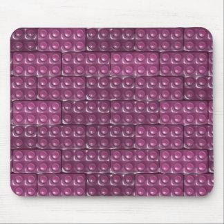 Los ladrillos del constructor - rosa alfombrillas de ratón