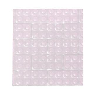Los ladrillos del constructor - rosa blocs de notas