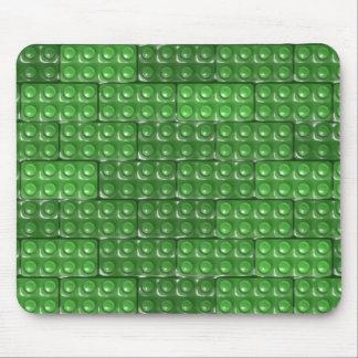 Los ladrillos del constructor - verde alfombrilla de ratones