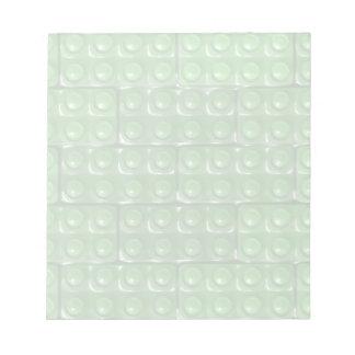 Los ladrillos del constructor - verde blocs de papel