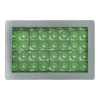Los ladrillos del constructor - verde hebillas cinturón rectangulares