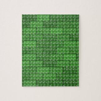 Los ladrillos del constructor - verde rompecabezas