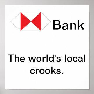 Los ladrones locales del mundo posters