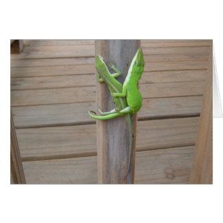 Los lagartos en amor - ahorre la tarjeta de fecha