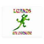 Los lagartos son impresionantes postal
