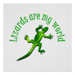 Los lagartos son mi mundo posters