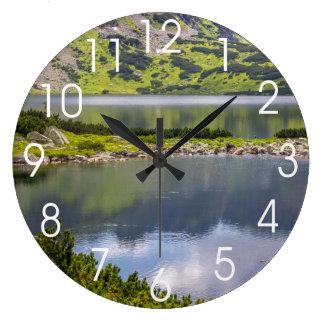 Los lagos reloj redondo grande