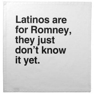 Los Latinos están para Romney.png Servilletas Imprimidas