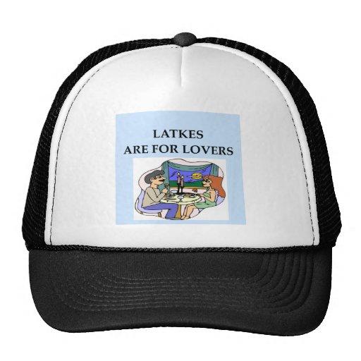 Los LATKES están para el amante Gorro De Camionero