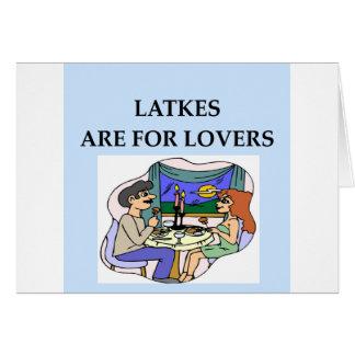 Los LATKES están para el amante Felicitacion