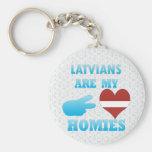Los Latvians son mi Homies Llavero Personalizado