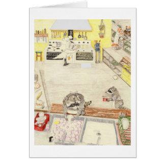 Los lavaplatos ocupados tarjeta de felicitación