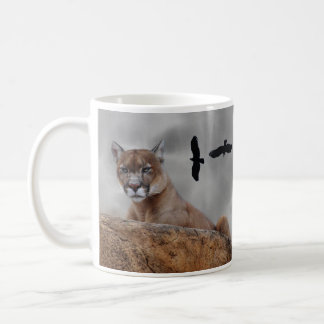 Los leones de montaña tienen cuidado taza de café