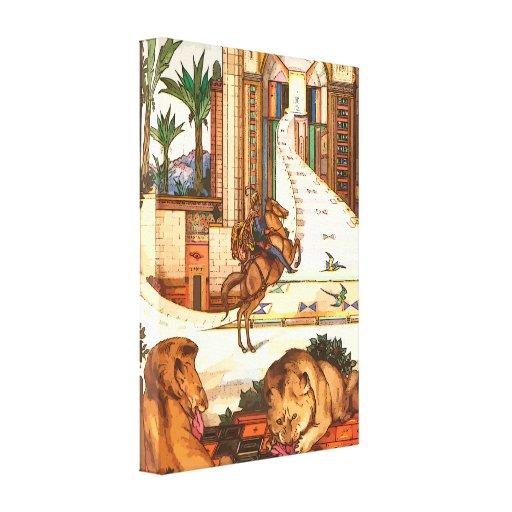 Los leones indios envolvieron la impresión de la l impresiones en lona