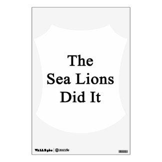 Los leones marinos lo hicieron vinilo