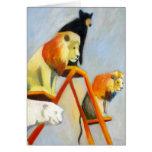 Los leones n del circo llevan la tarjeta
