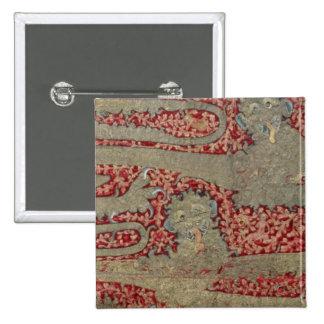 Los leopardos de Inglaterra, siglo XV (tapicería) Pin Cuadrada 5 Cm