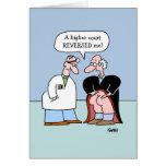 Los letrados divertidos consiguen la tarjeta de fe