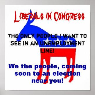 Los liberales deben ir póster