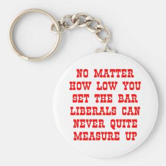 Los liberales nunca miden para arriba llavero redondo tipo pin