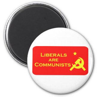 Los liberales son Commies Imán Redondo 5 Cm