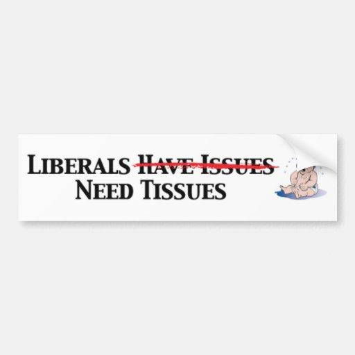 Los liberales tienen problemas pegatina para auto