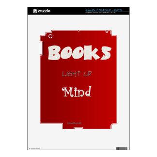 Los libros aclaran iPad 3 pegatina skin